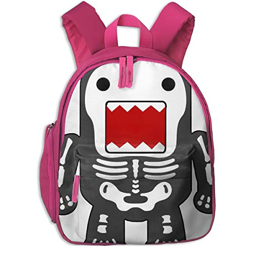 Durable Funny Cool Domo-kun Skeleton Pocket Backpacks Backpack Schoolbag For Childrens Kids Children Boys Girls -