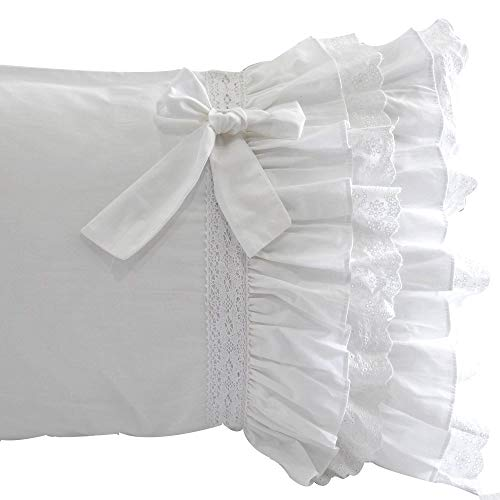 Queen's House Pillow Covers White Pillowcases Set of 2-King,E (Pillow Shams Custom)
