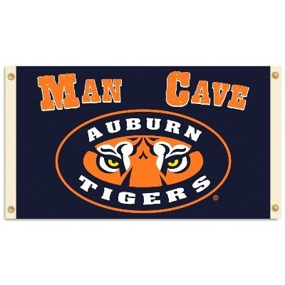 Auburn Tigers Man Cave 3 Ft. X 5 Ft. Flag W 4 Grommets by BSI Products, Inc.