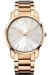 Men's Calvin Klein ck City Steel Dress Watch K2G21646