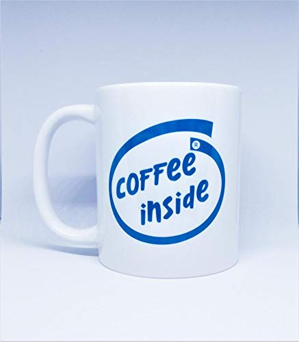 - Coffee Inside - Intel Logo Style - Computer - PC - Tech Nerd - Geek Gift - Computing - Programmer