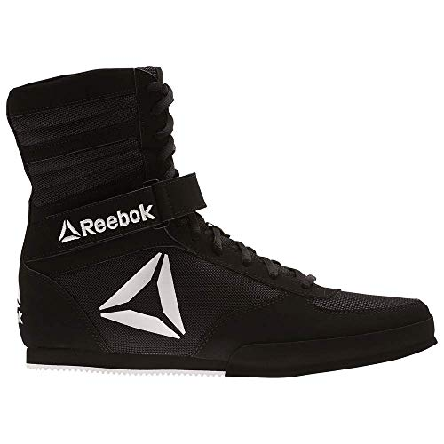 Reebok Men's Boot Boxing Shoe, Black/White, 12 M US