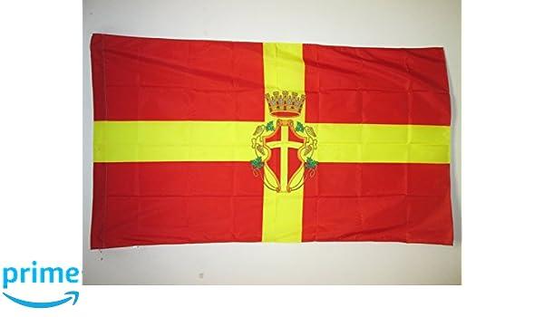 Bandera de La Comunidad de Madrid Con 2 ojales Met/álicos Bandera de La Comunidad de Madrid 85x150cm Reforzada y con Pespuntes