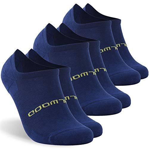 Tennis Socks, ZEALWOOD Low Cut Cycling Athletic Running Cushion Sports Socks for Men & Women 3 Pairs-Navy M by ZEALWOOD