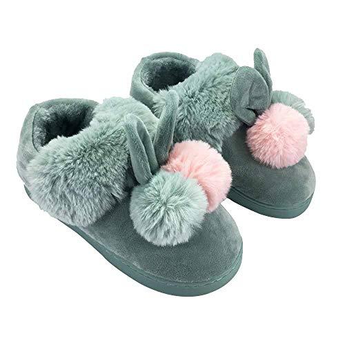 Coton Avec Green Li Adorable D'hiver Bottes De Femmes Et D'automne Miss En L'intérieur Chaud Pour Sac Épais Pantoufles Fond Chaussures 6fxHtvn