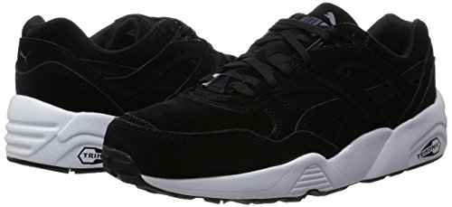 Puma R698 ALLOVER SUEDE F5 Chaussures Mode Sneakers Homme Cuir Suede Noir