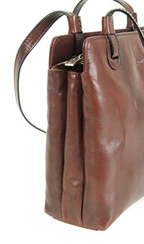 fdec53ec40283 ... Gianni Conti feines Italienisches Leder klein braun Schulter Handtasche  Tasche 903660