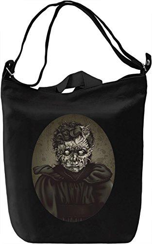 Zombie woman Borsa Giornaliera Canvas Canvas Day Bag| 100% Premium Cotton Canvas| DTG Printing|
