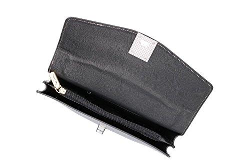 Borsa donna a mano con tracolla PIERRE CARDIN grigio pelle Made in Italy VN312