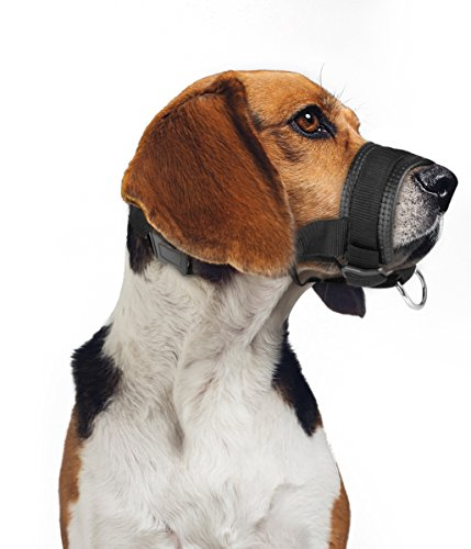 ONSON Dog Muzzle – Adjustable and Comfortable Nylon Muzzles for Small Medium Large Extra Dog – Stops Biting, Safe Retraining of Aggressive Dogs (XL)