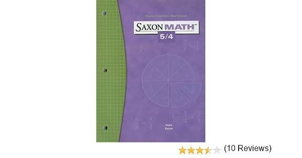 Saxon Math 5/4: Fact Practice Workbook: SAXON PUBLISHERS ...
