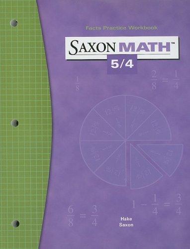 Saxon Math 5/4: Fact Practice Workbook
