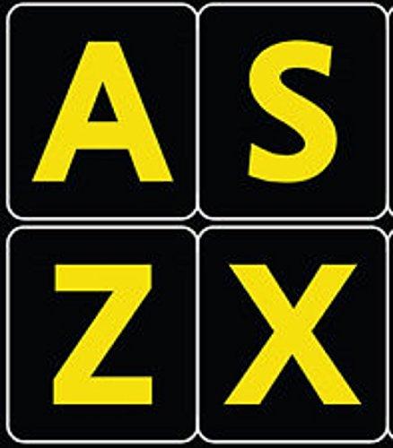 Inglés Reino Unido Grandes letras (mayúsculas) pegatinas de teclado no transparentes de color amarillo con letras blancas letras: Amazon.es: Electrónica