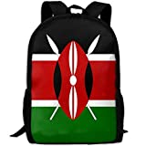 SuBenSM Africa Flag Of Kenya Backpack Daypack Fit Outdoor,Travel,Hiking& Camping Casual,College,School,Book Bags