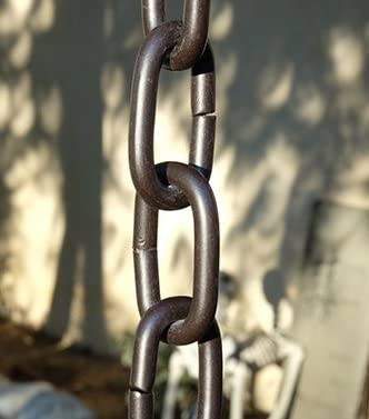 9 Foot Bronze Large Aluminum Link Rain Chain with Installation Kit