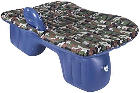 車用ベッド 車のエアベッド多機能旅行キャンプ車の後部座席インフレータブルマットレス旅行と睡眠の休息2つの空気枕と空気のソファ (色 : D)
