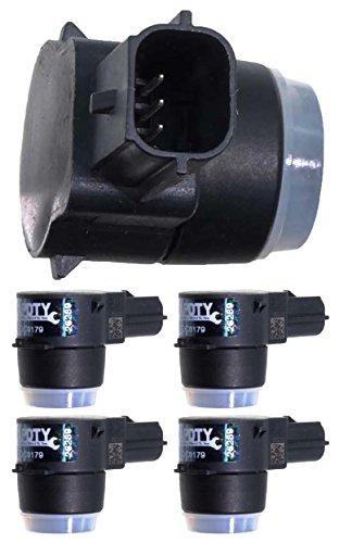 APDTY 15239247 PDC Sensor Park Assist Reverse Backup Object Sensor Pack Of 4 Fits Rear Bumper On Select 2006-2016 GM Vehicles (Replaces 15945176, 25962147; View Description For Specific (Assist Sensor)