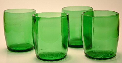 Perrier Water Glasses Stemless Wine Pint Glass/Tumbler made from recycled bottle