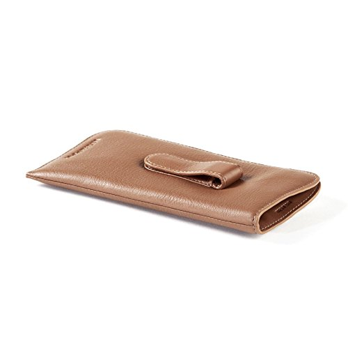 Soft Eyeglass Case with Clip - Full Grain Leather - Cognac (brown) by Leatherology