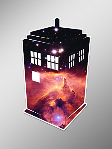 Outer Space Tardis Doctor Who Vinyl Decal Sticker | Cars Tru
