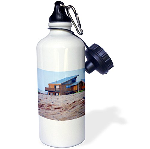 3dRose Beach House Sand Sandpiper Birds Florida-Sports Water Bottle, 21oz (wb_184404_1), 21 oz, Multicolor