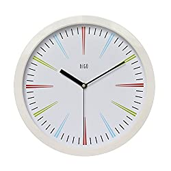 hito Modern Colorful Silent Non-ticking Wall Clock- 12 inches (C whiteframe)
