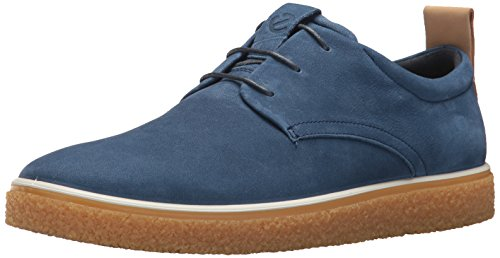 - ECCO Men's CrepeTray Tie Oxford, True Navy/Powder Derby, 44 M EU (10-10.5 US)