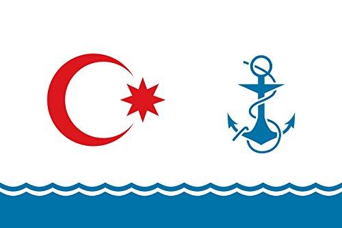 magFlags Large Flag Ceremonial naval flag of Azerbaijan | la