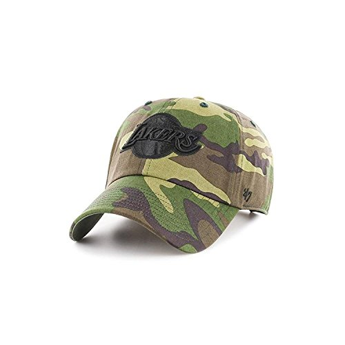 '47 Los Angeles Lakers Brand Unwashed Camo Clean Up Slouch Fit Hat