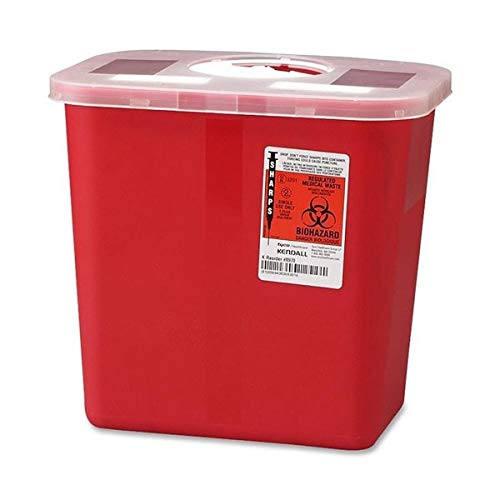Kendall Sharps Container with Rotor Lid - 2 Gallon - 1/Each ()