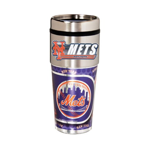 New York Mets 16oz. Stainless Steel Travel Tumbler/Mug