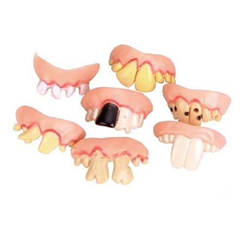 Costumes Fake Teeth (WINOMO 5pcs Costume Party Teeth Funny Fake False Teeth Prop Thanksgiving Christmas (Random Shape))