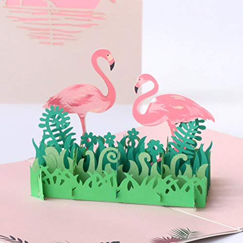 Paper Spiritz Flamingo Pop up Cards Birthday, Anniversary Thank You Card for Husband Daughter Wife, Handmade Graduation Sympathy Blank Card, Laser Cut Gift Card with Envelopes All Occasions