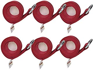 product image for Safe 'n Secure 8 ft or 10 ft Lasso Strap with O-Ring (Red, 8 ft 6-Pack)