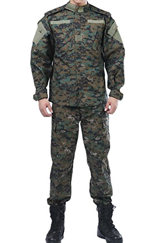 (U.S. Digital Woodland Camo BDU Combat Coat Pant Uniform Sets)