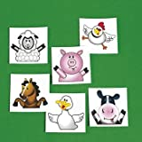 Fun Express Farm Life Party Tattoos - 72 Pieces