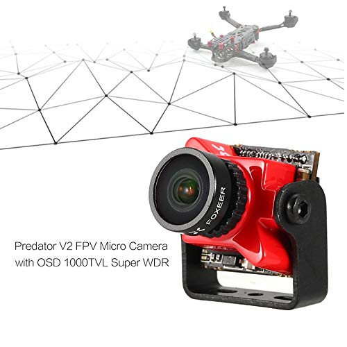 Wikiwand Foxeer Predator V2 FPV Micro Camera Cam with 1.8mm Lens OSD 1000TVL WDR NTSC by Wikiwand (Image #6)