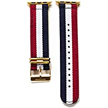 Apple Watch Nylon Watch Band - Blue, White & Red