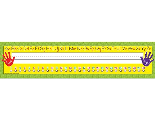 (Teacher Created Resources Super Jumbo Right/Left Alphabet Name Plates (4303))