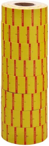 Yellow Price Tags for MX-6600 2 Lines Gun 3 tubes x 14 rolls x 500