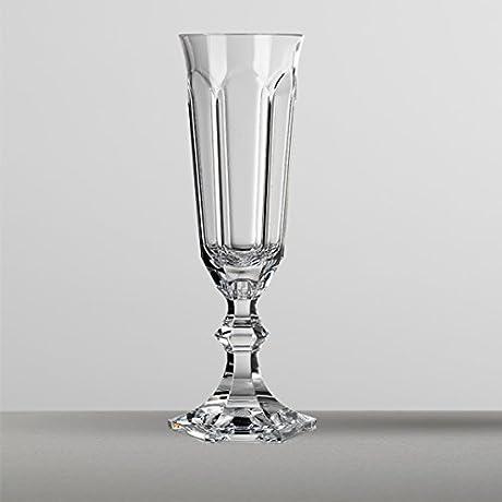 Mario Luca Giusti Set 6 Dolce Vita Flute Glass Transparent