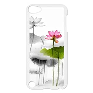 Customized Cover Case with Hard Shell Protection for Ipod Touch 5 case with Beautiful flowers lxa#877527 by icecream design