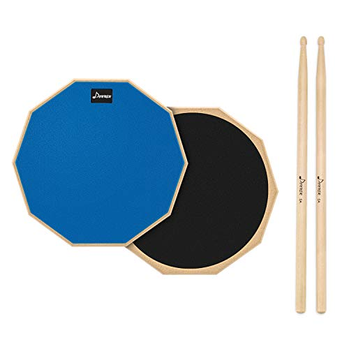 Donner 12 Inches Drum Practice Pad 2-Sided Silent Drum Pad