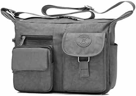 874e490b1bfa Fabuxry Women s Shoulder Bags Casual Handbag Travel Bag Messenger Cross  Body Nylon Bags