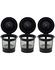 3 Pack Reusable K Cups for Keurig 2.0 and 1.0 Brewers Universal Fit Refillable Single Cup Coffee Filters Stainless Steel Mesh Filter by DELIAWINTERFEL