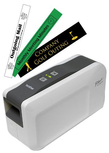 Prints durable laminated labels up to 1†wide. Connect labeler to your PC type your text usi - by Brother