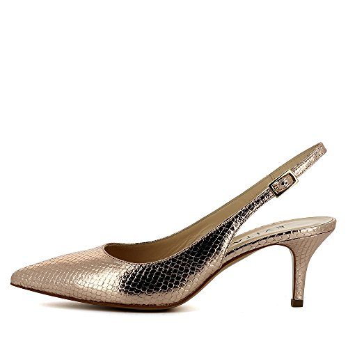 Evita Shoes Giulia Damen Sling Pumps Pythonprägung Altrosa