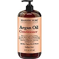 Majestic Pure Argan Oil Hair Conditioner with Keratin - Natural for All Hair Types, Women and Men, Sulfates Free, Parabens Free - 16 Fl Oz