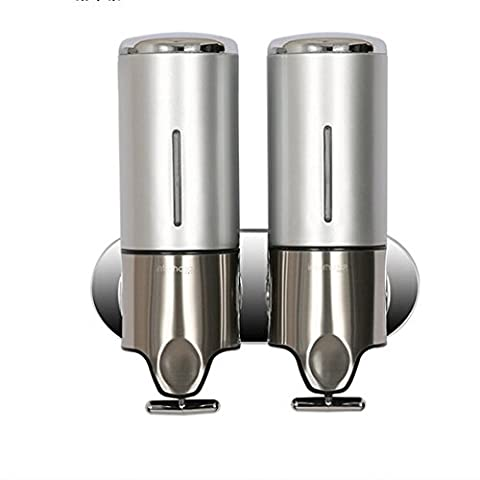 IYUEGO Soap Dispenser 32 oz. Contemporary Wall-mounted Bathroom Accessories Stainless Steel Silver Color (Two (Bathroom Shower Soap Dispenser)