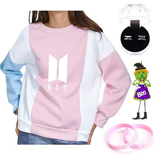 Youyouchard BTS Sweatshirt+BTS Earrings+BTS Bracelet+Halloween Decoration,for Halloween(M Style 2) -